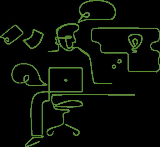 illustration af virtuel mus